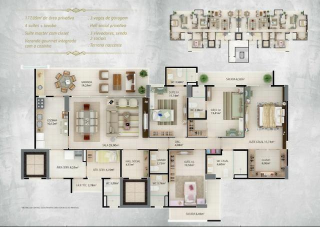 (JAM)TR23359 Apartamento a venda oportunidade no Guararapes com 4 Quartos 3 vagas