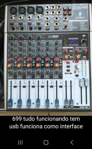 Microfone mesa de som iluminação controladora laser mixer multi cabo - Foto 4