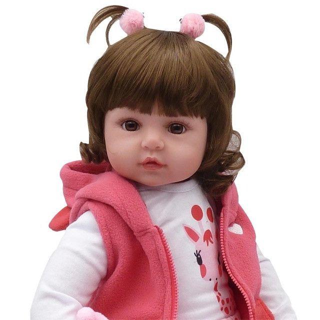 Bebê Reborn Boneca Realista 100% Silicone Girafa Criança - Foto 2