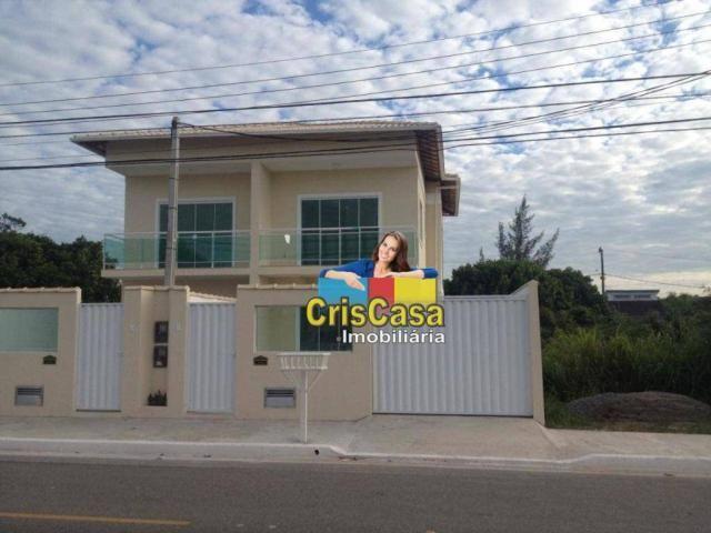 Casa com 4 dormitórios à venda, 132 m² por R$ 380.000,00 - Praia Mar - Rio das Ostras/RJ