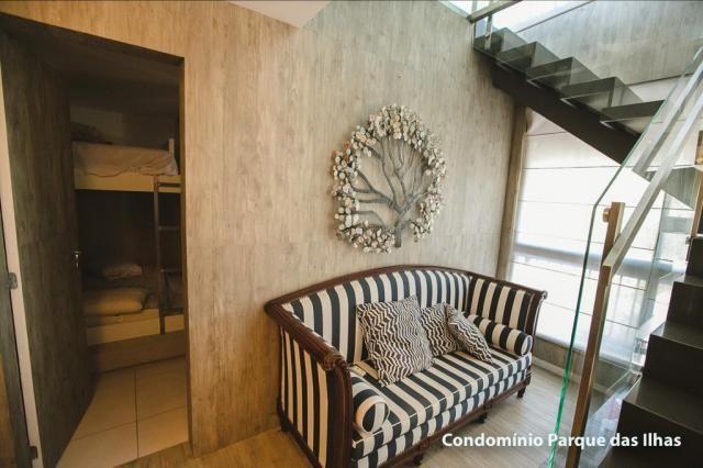 Vendo linda cobertura duplex no parque das ilhas(Porto das Dunas) 164m, toda projetada, po - Foto 17