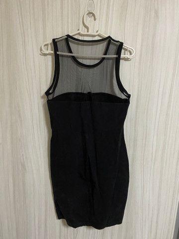 Vestido preto com bojo e tule Tam M r$30 - Foto 2