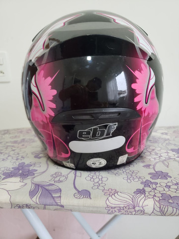 Capacete EBF feminino fada preto e rosa - Foto 5