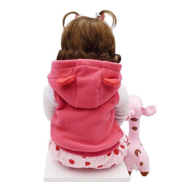 Bebê Reborn Boneca Realista 100% Silicone Girafa Criança - Foto 4