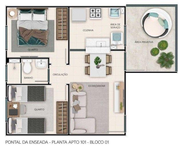 MF- Pontal da Enseada. Apartamento lindíssimo. Venha morar com sua família ! - Foto 4