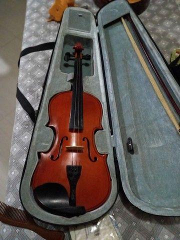 Violino em perfeito estado, último preço. Pra vender logo. - Foto 2
