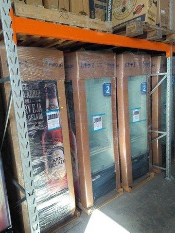 Cervejeira Fricon - porta de vidro e porta fechada a pronta entrega