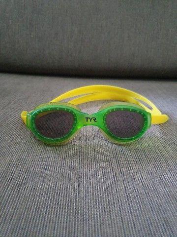 Óculos de Natação Tyr Small Original Semi-novo - Lente Fumê - Foto 3
