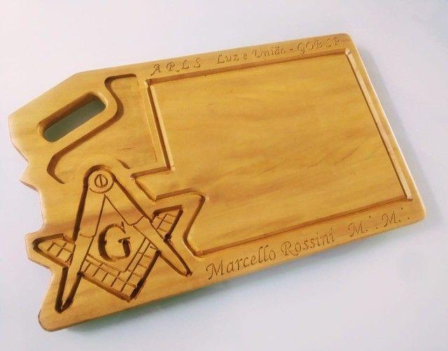 Itens Maçonaria Personalizados em Madeira - Foto 6