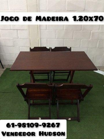 Jogo de Madeira 1.20x70 Direto da Fábrica - Foto 2