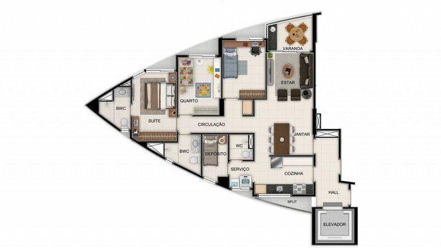 Apartamento para venda tem 84 metros quadrados com 3 quartos em Graças - Recife - PE - Foto 15