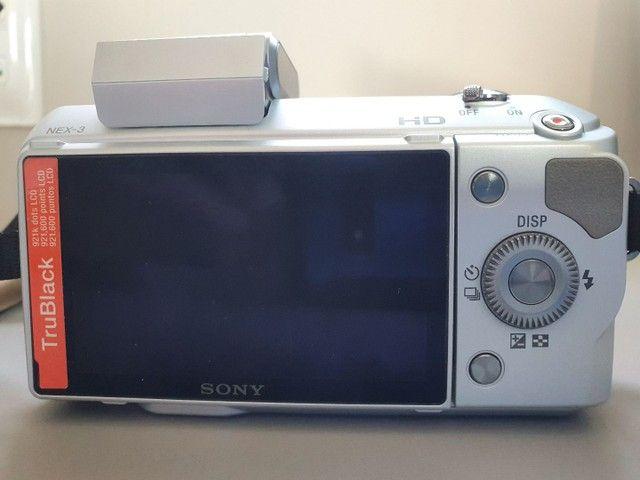 Máquina de fotografia Sony NEX -3 E 18-55mm 14.2 Mega pixels - Foto 2