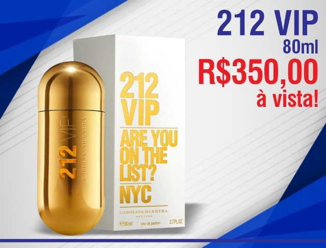 212 Vip Carolina Herrera - Perfume Feminino - Eau de Parfum Original - 80Ml