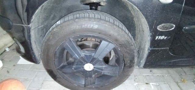 Rodas de liga Aro 15 com 2 pneus Remold NOVOS e dois meia boca