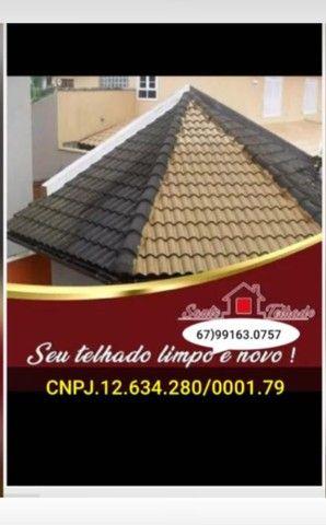 Limpeza de telhado a seco