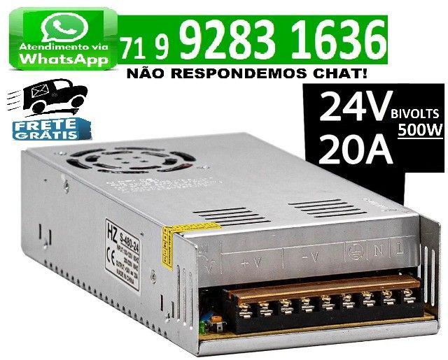 Fonte Chaveada Estabilizada 24v 20a Chave 110v / 220v 500w 24 volts 20 amper