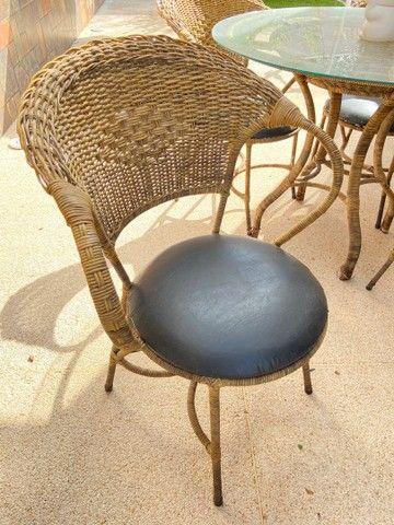 Mesa Rattan redonda 4 lugares + 4 cadeiras - Foto 3