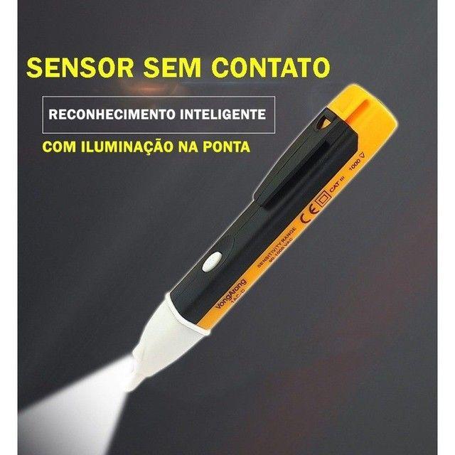 Caneta Detectora De Energia Voltímetro Teste Tensão Sonora - Foto 3