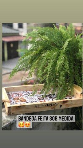 Roupas de mesa e peças em madeira  - Foto 6