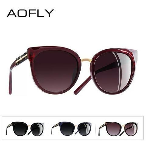 Aofly Óculos de sol Feminino lentes com proteção solar e polarizadas ... 37379b0d74