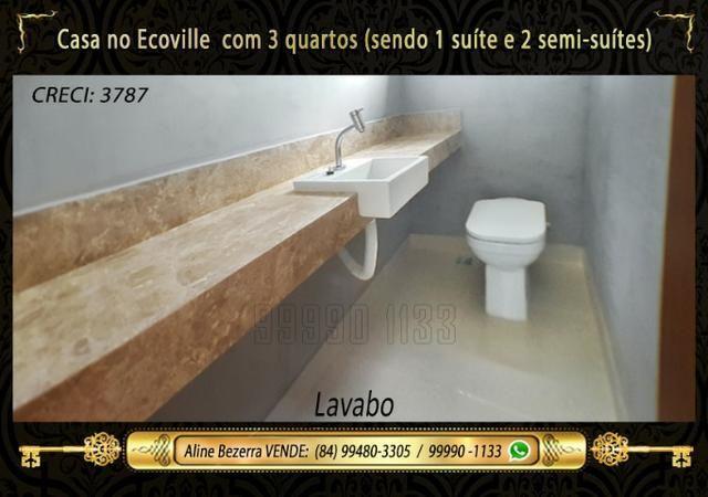 Casa no Ecoville, 3 quartos sendo 1 suíte com closet, lavabo, Etc - Foto 6
