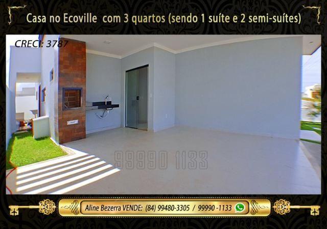 Casa no Ecoville, 3 quartos sendo 1 suíte com closet, lavabo, Etc - Foto 2