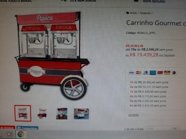 Carrinhos Pipoca Gourmet - Foto 3