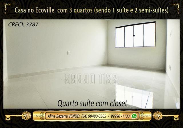 Casa no Ecoville, 3 quartos sendo 1 suíte com closet, lavabo, Etc - Foto 12