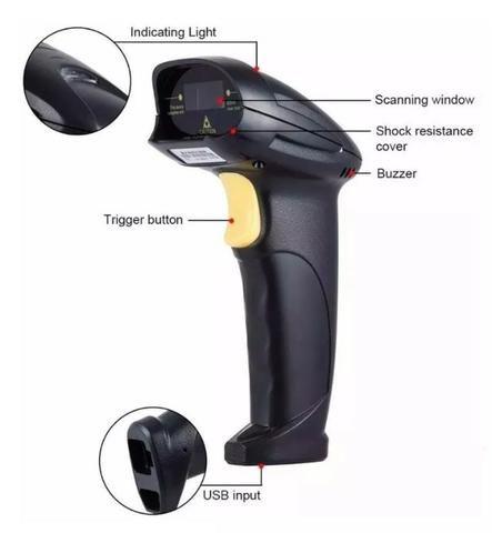 (NOVO) Leitor Scanner Código De Barras Comercial Usb Yhd-8200