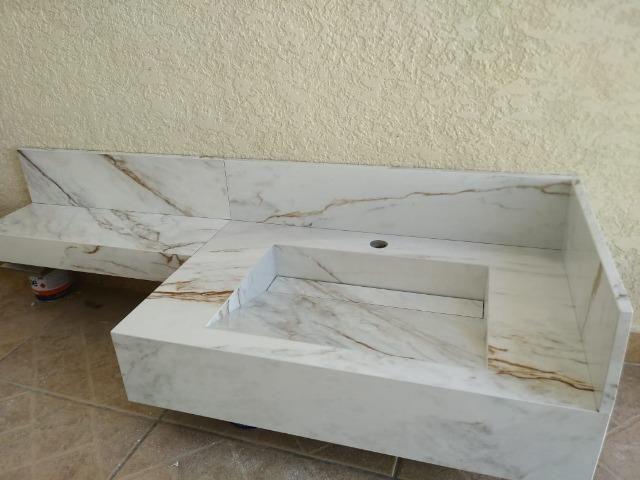Pias de porcelanatos, bancadas e Lavatórios - Foto 3