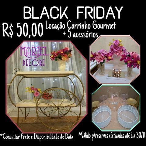 Black friday - carrinho gourmet