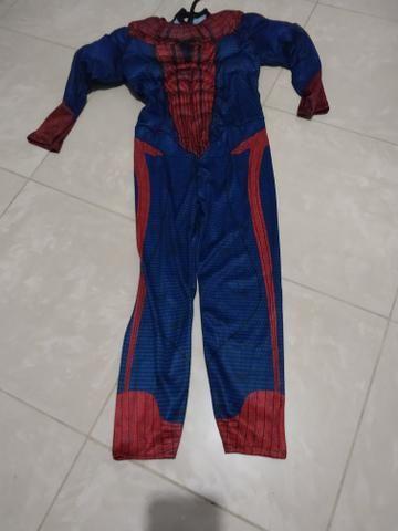 Fantasia infantil homem aranha mascara de tecidos - Foto 2