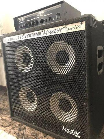 Kit Master Cabeçote Bs 200 + Gabinete Bs 410 Bass - Foto 4