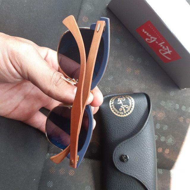Óculos de Sol Ray Ban Clubmaster wood - Foto 3