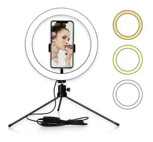 Ring Light 8 20cm Iluminação Profissional Led Selfie Tripé - Foto 2