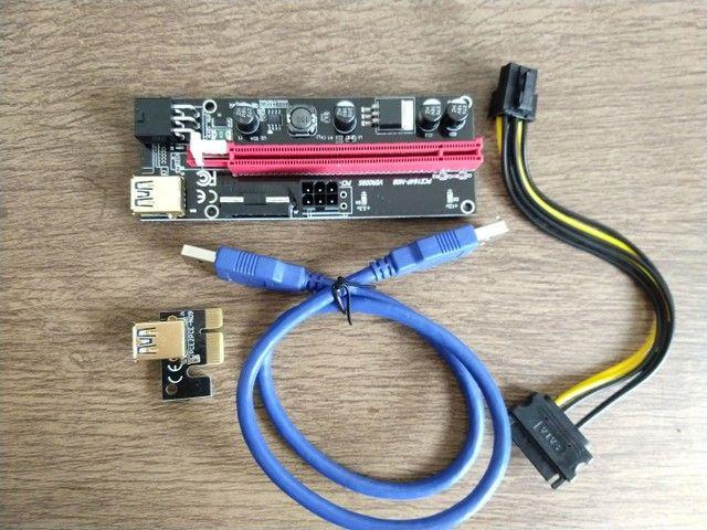 Riser (Versão 009s com 4 capacitores) cabo de 60 cm.