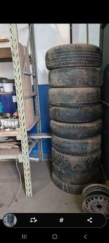 Desapego de Lote de rodas de ferro aro 16 com friso para uso de pneu com câmara  - Foto 2