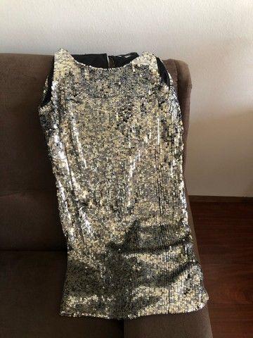 Vestido paetê Zara - TAM S (P) - Foto 3