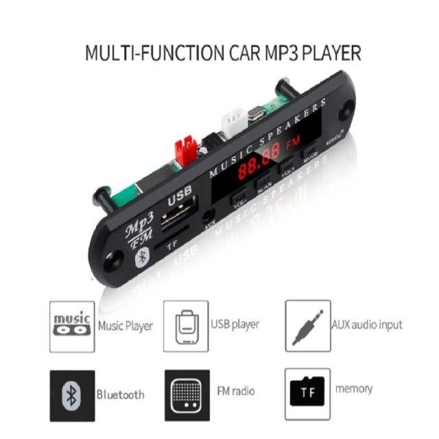 Placa De Decodificador 12v Mp3 Wma Sem Fio Bluetooth 5.0 Usb - Foto 4