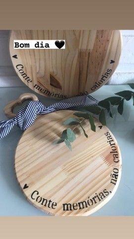 Roupas de mesa e peças em madeira  - Foto 5