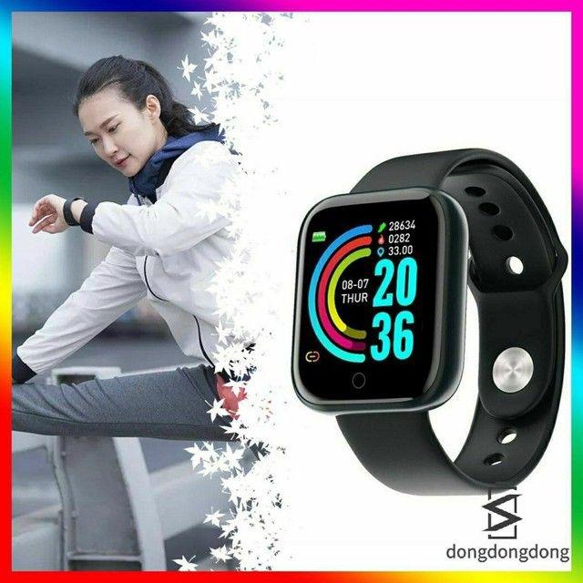 Y68 D20 Smartwatch/Relógio Smart Esportivo com Pedômetro/Monitor - Foto 3