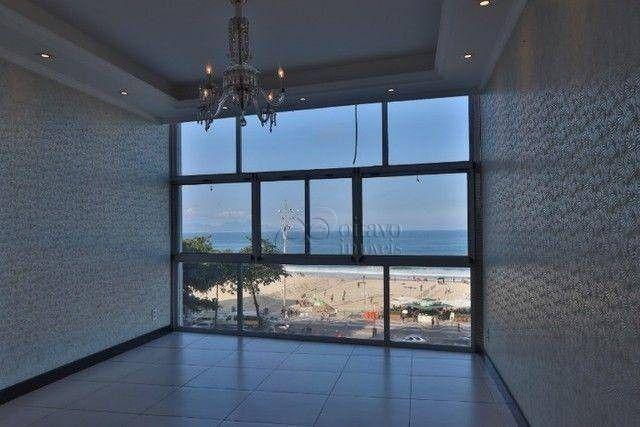 Atlantica Posto 5, vista panoramica 200m2 reformado salão duplo 3 quartos suite dependenci - Foto 5