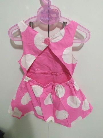 Vestido rosa com bolas branca. 2 anos. - Foto 3
