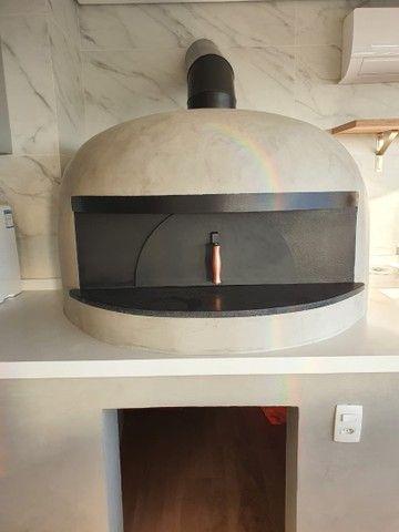 Forno a lenha e gás para pizza napolitana  - Foto 4