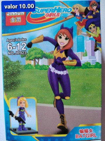 Super heroínas blocos de montar Similar ao lego