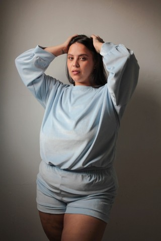 Pijama de Frio Plush Aveludado Manga Comprida  Super Confortável de Inverno do P ao 60 - Foto 2