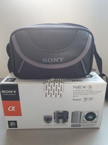 Máquina de fotografia Sony NEX -3 E 18-55mm 14.2 Mega pixels - Foto 6