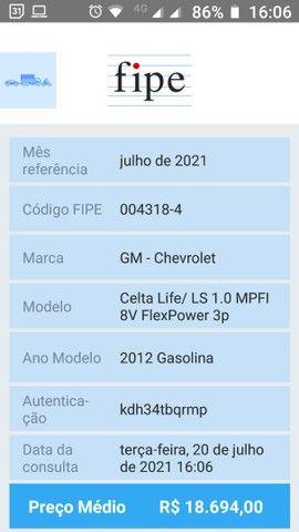 Celta 2011/2012 IPVA 2021 pago! - Foto 5