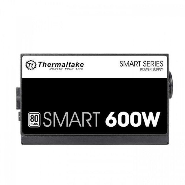 Fonte Thermaltake 600W 80 Plus White Smart Series,PFC Ativo,Nf e garantia , Loja Mega - Foto 3