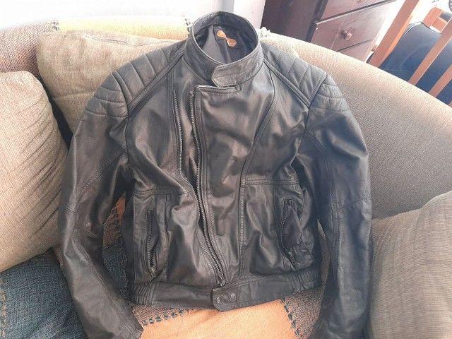 Jaqueta de moto couro puro Legitimo tamanho G Watzaper * - Foto 2